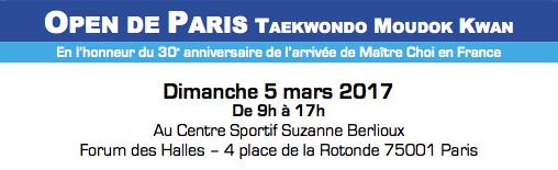 Open de Paris Taekwondo Moudok Kwan 2017
